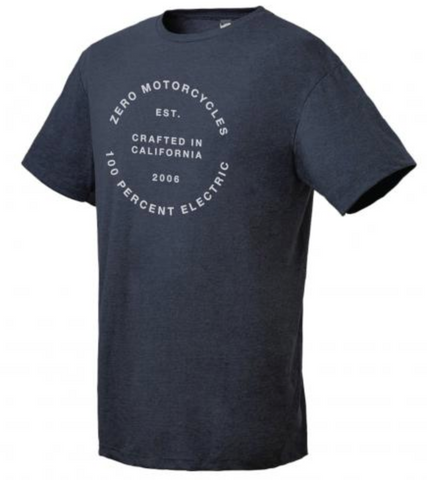 Zero Electric Round Tee - Navy Heater