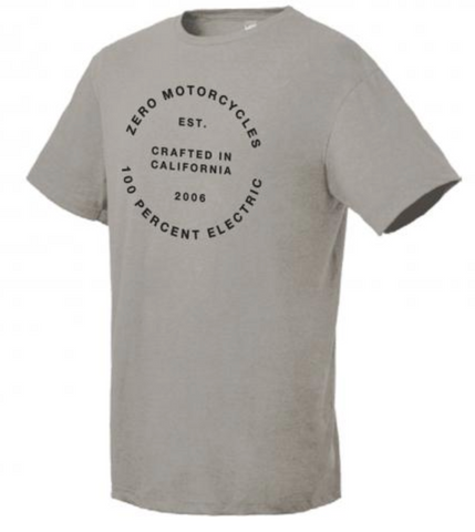 Zero Electric Round Tee - Light Grey