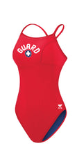 Women's Guard Durafast Lite Diamondfit Reversible Swimsuit - Red