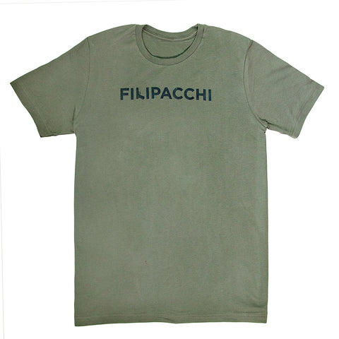 Filipacchi T-Shirt - Gun Logo - Army Green and Black