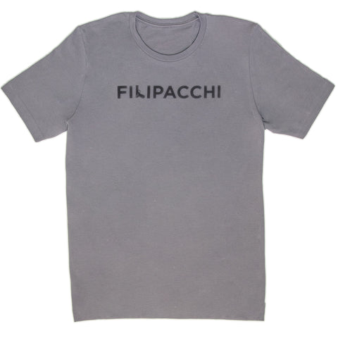 Filipacchi T-Shirt - Gun Logo - Light Grey/ Black Graphic