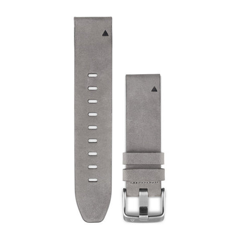 Garmin - Quickfit 20mm Watch Band - Grey Suede Leather