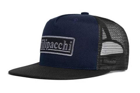 Filipacchi Trucker Hat - Logo - Navy/Black