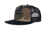 Filipacchi Trucker Hat - Logo - Camo - Side View
