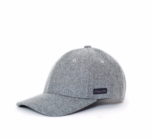 Filipacchi Wool Baseball Cap - Heather Gray