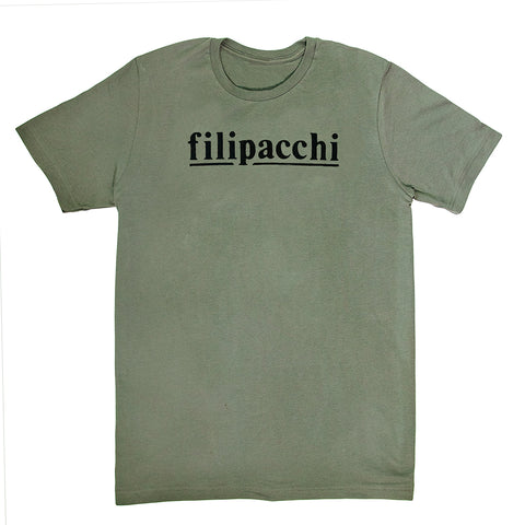 Filipacchi T-Shirt - Logo - Army Green/ Black Graphic