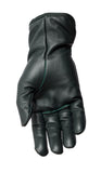 Filipacchi Leather Gloves - Green - Palm View