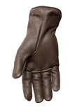 Filipacchi Leather Gloves - Chocolate Brown - Palm View