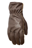 Filipacchi Leather Gloves - Chocolate Brown - Back View
