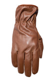 Filipacchi Leather Gloves - Brown - Back View