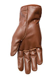 Filipacchi Leather Gloves - Brown - Palm View
