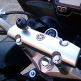 RAM® Motorcycle Handlebar Clamp Base with M8 Bolts