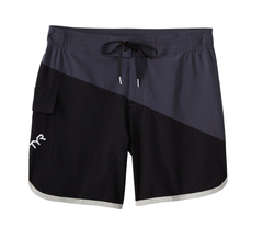 Men's Diagonal Splice Bulldog BoardShort - Black/gray