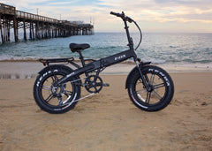 E Lux - Sierra Sport - Fat Tire Folding E-Bike - Matte Black
