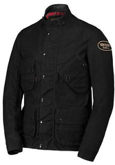 Vanson - Stormer Jacket - Waxed Black Canvas