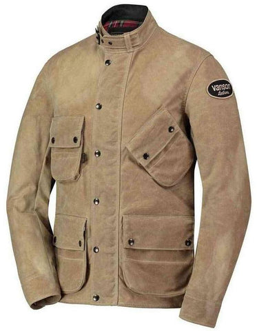 Vanson - Stormer Jacket (Model 4006 A250)- Waxed Tan Canvas