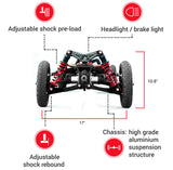 BajaBoard G4X Infographic (Front-view)