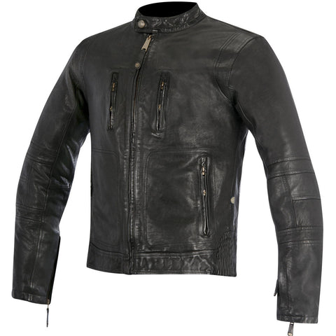 Alpinestars Oscar Brass Leather Jacket - Black