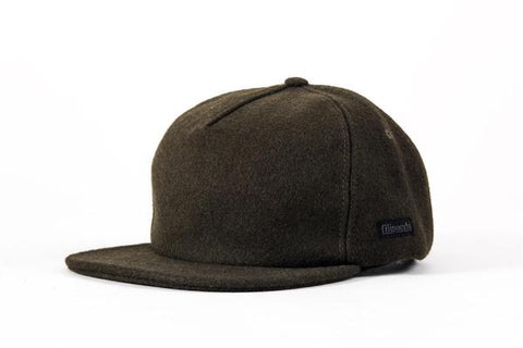 Filipacchi - Vintage Style Wool Cap - Olive