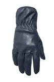 Filipacchi Leather Gloves - Blue - Back View