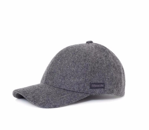 Filipacchi Wool Baseball Cap - Dark Gray