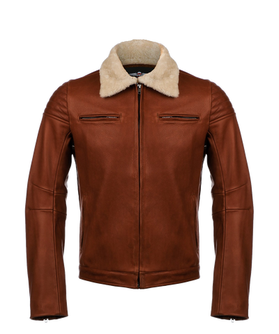 Vaktare - The Pilot Racer Jacket- Cognac