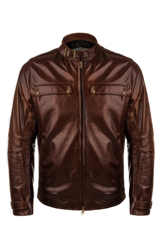 VKTRE- Heritage Leather Road Jacket