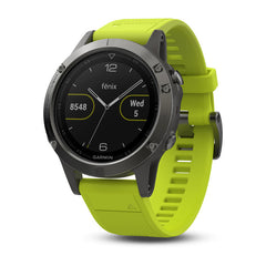 Garmin Watch - fēnix® 5 - Slate Gray with Amp Yellow Band & Black Band (47mm)