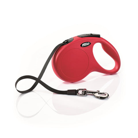 Flexi Classic Tape Red Retractable Dog Lead 5m Small