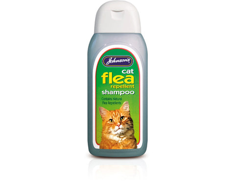 Johnsons Cat Flea Cleanse Shampoo 200ml Twin Value Pack