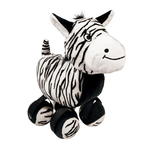 KONG Tennis Shoes Zebra Small Dog Toy