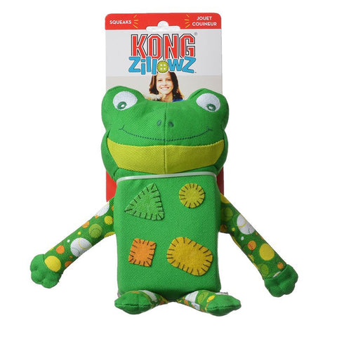KONG Zillowz Frog Toy Large