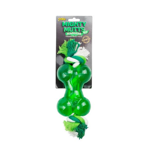 Mighty Mutts Durable Chew Bone & Rope Mint Medium