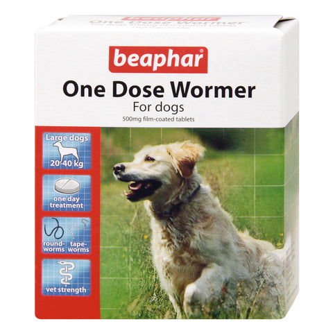 Beaphar One Dose Wormer for Large Dogs 4 Pack