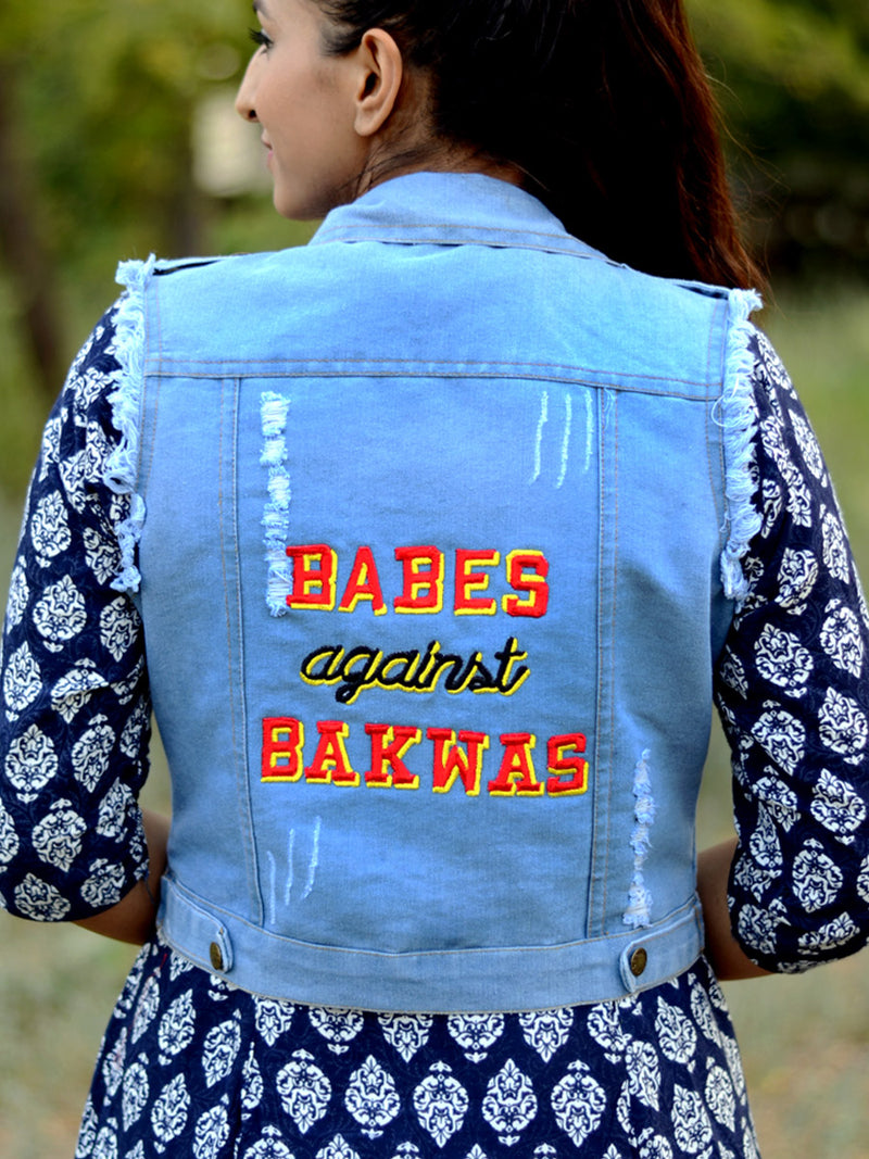 Babes against Bakwas Sasswati Denim Jacket