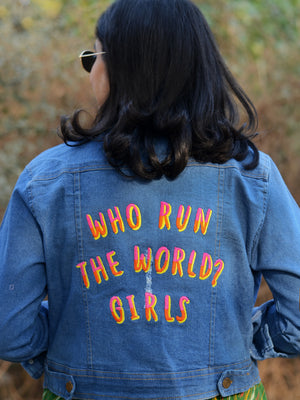 Who Run the World Sasswati Denim Jacket (Full Sleeves)