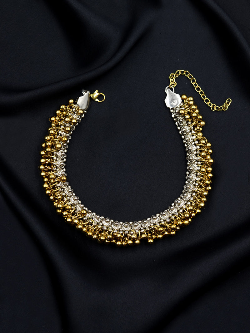 Bhoomi Silver Ghungroo Necklace
