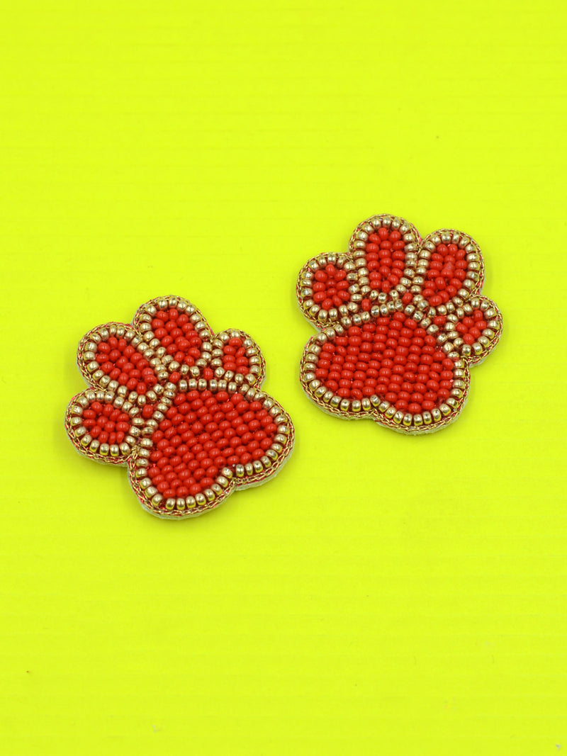 Paw Bead Earrings