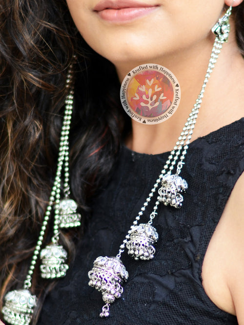 Jhumka Gira Rey (Silver) by kraftedbyhappiness