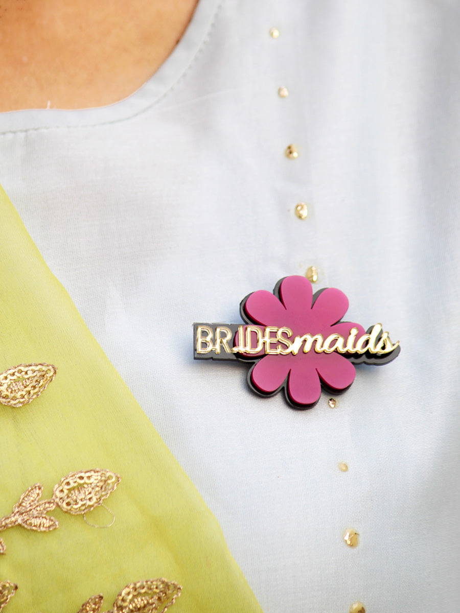 Bridesmaids Brooch, a handmade statement brooch from our wide range of quirky wedding collection for women.