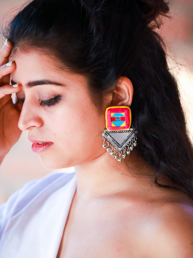 Kalakriti Mirror Earrings