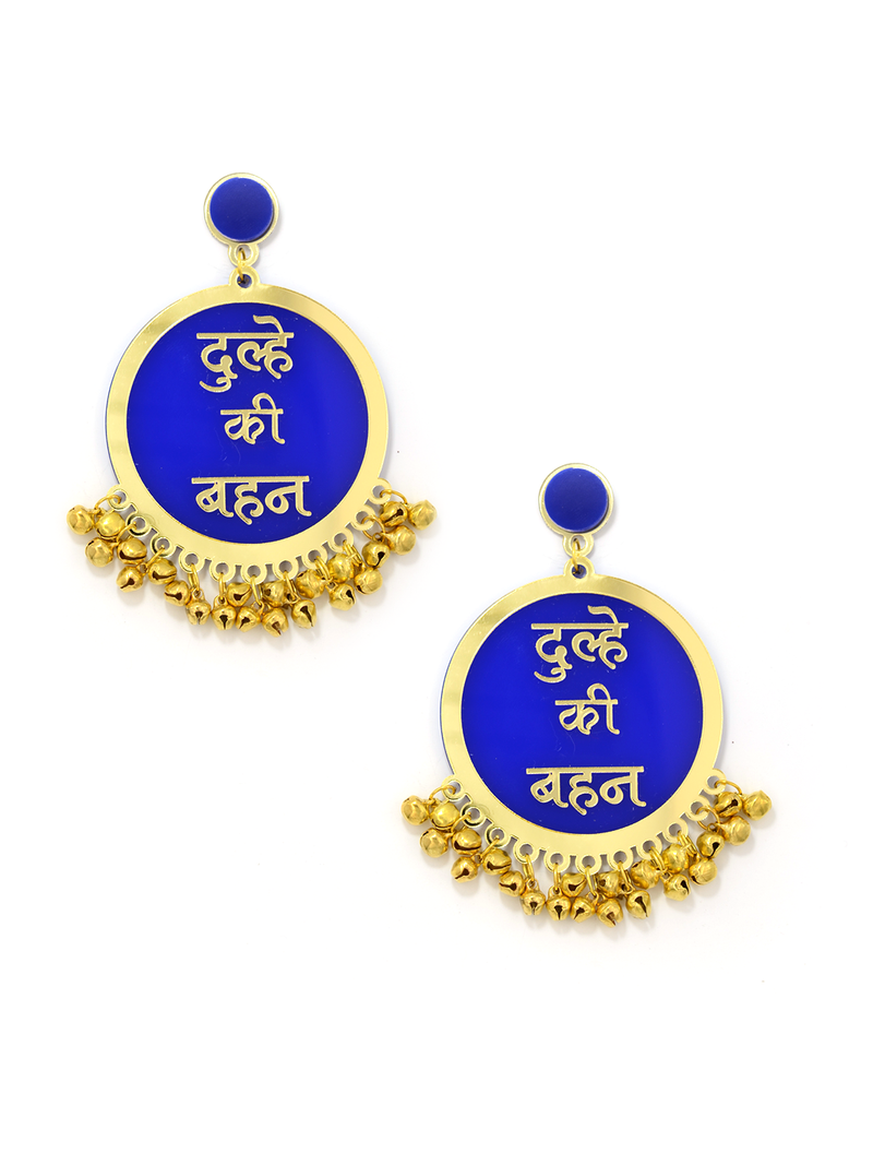 Customised Earrings (with Ghungroo), our latest, fully customisable and personalised designer range of statement, gota work, hand embroidered, bohemian and tassel earrings for women online.