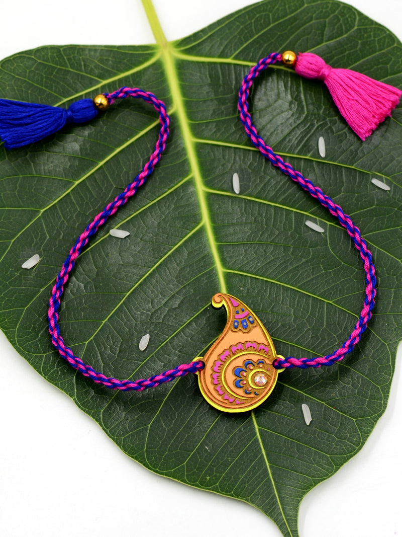 Colorful Paisley Rakhi