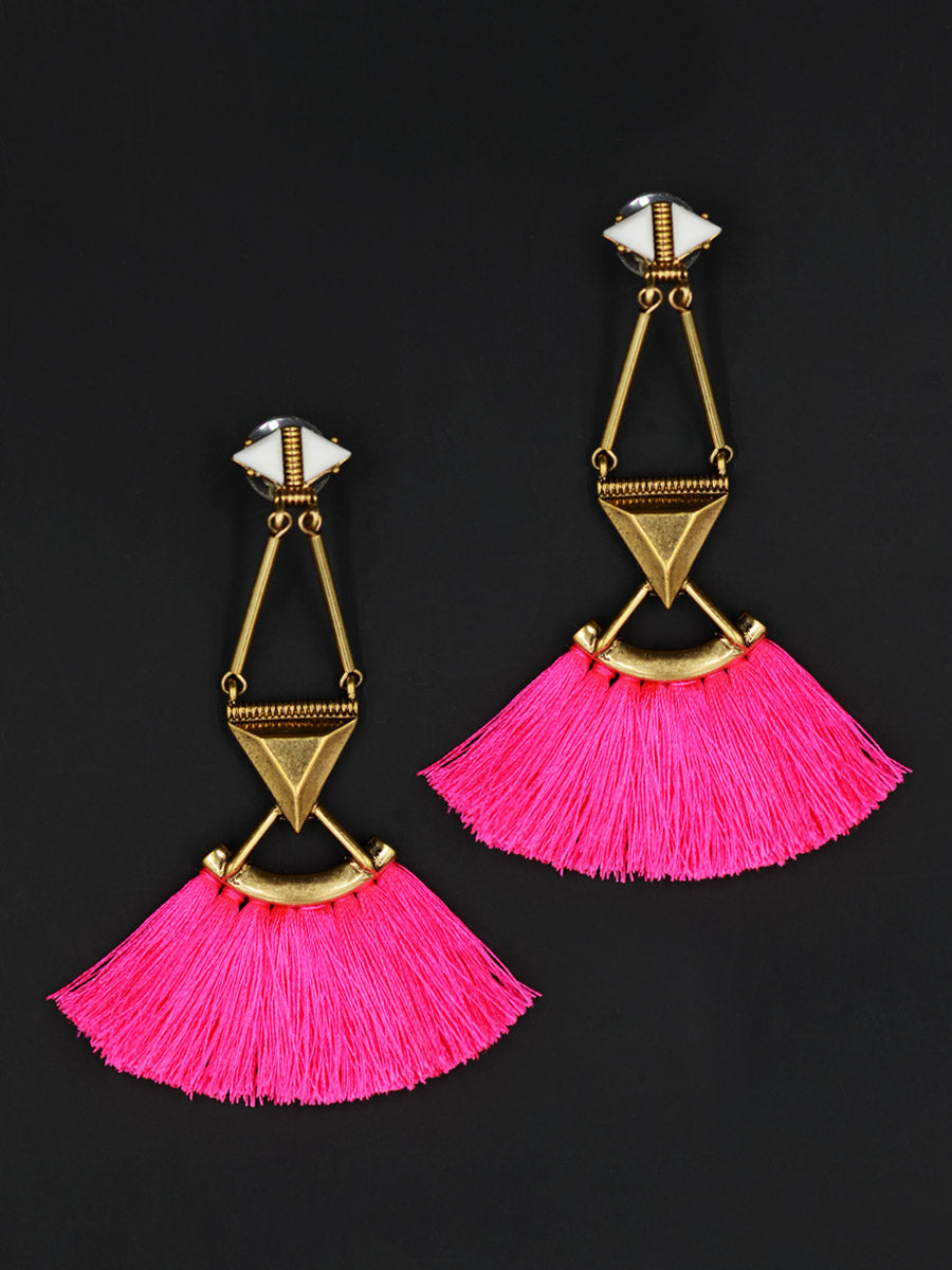 Trendy Tassel Earrings by kraftedwithhappiness
