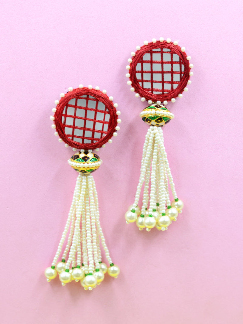 Aria Hand-Embroidered Earrings