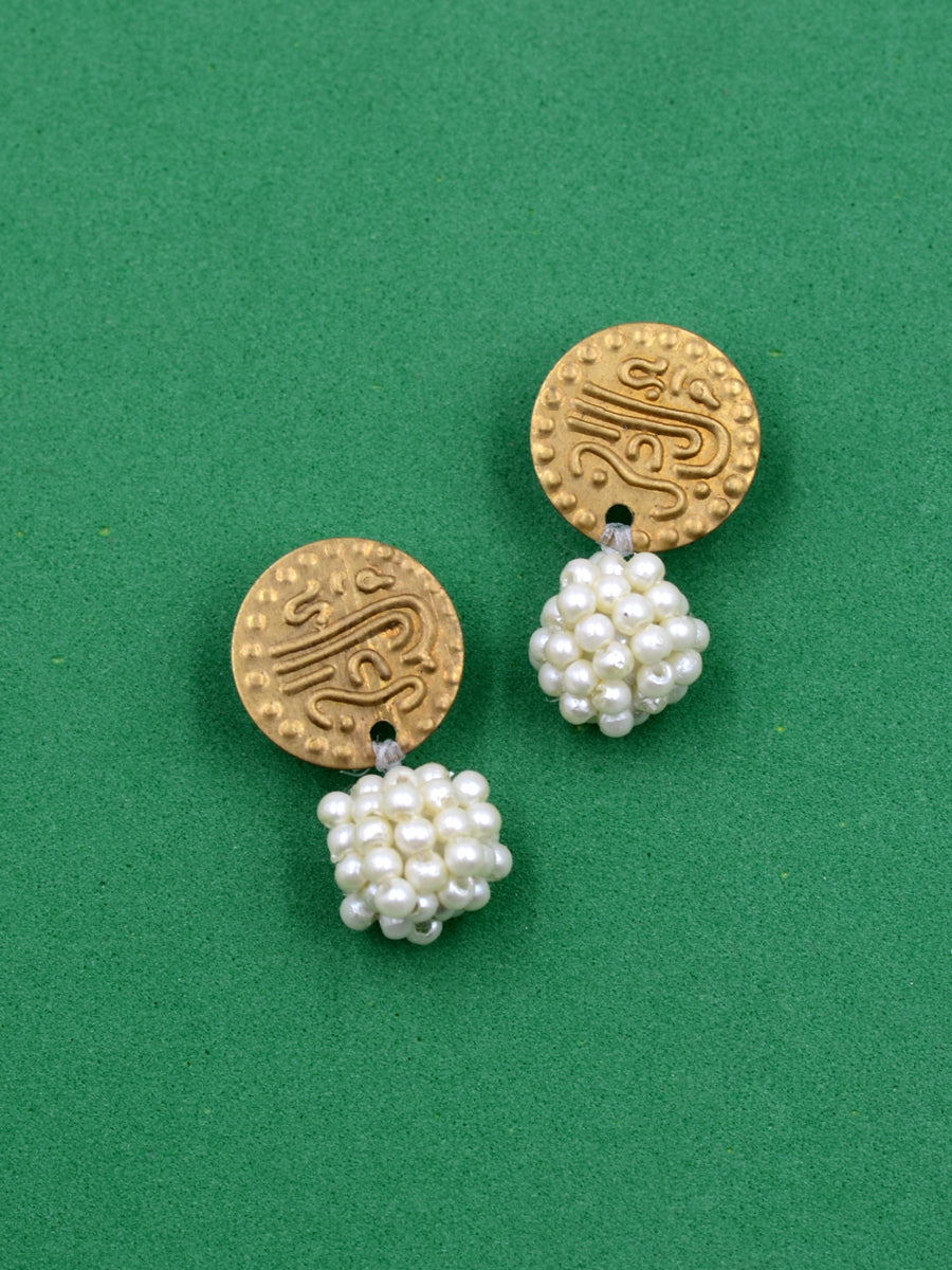 Kizzie Coin Bead Earrings