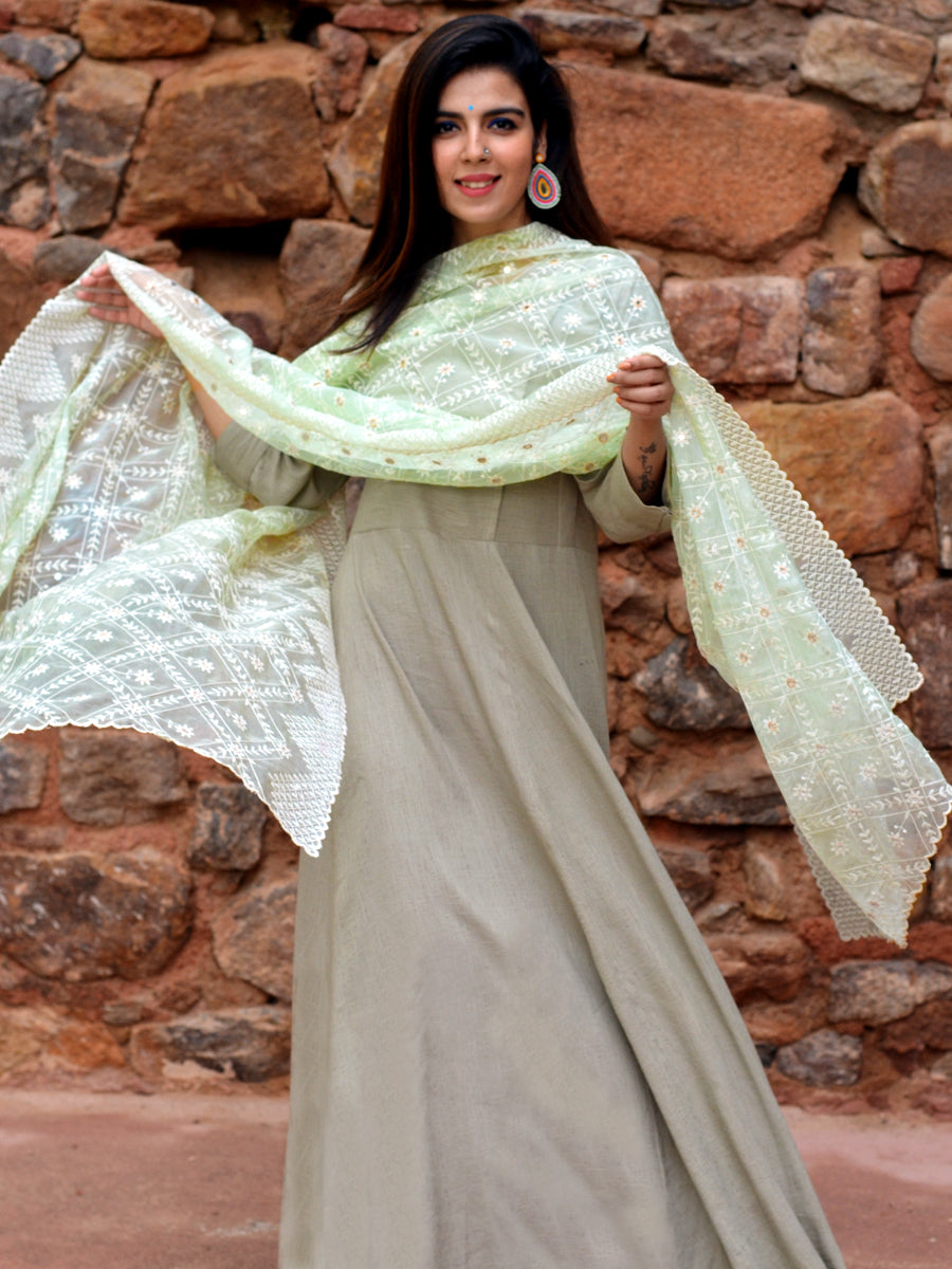 Mumtaz Dupatta, a hand embroidered, statement dupatta from our designer collection of dupattas and clothing for women.