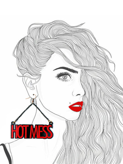 Hot Mess Earrings by kraftedbyhappiness