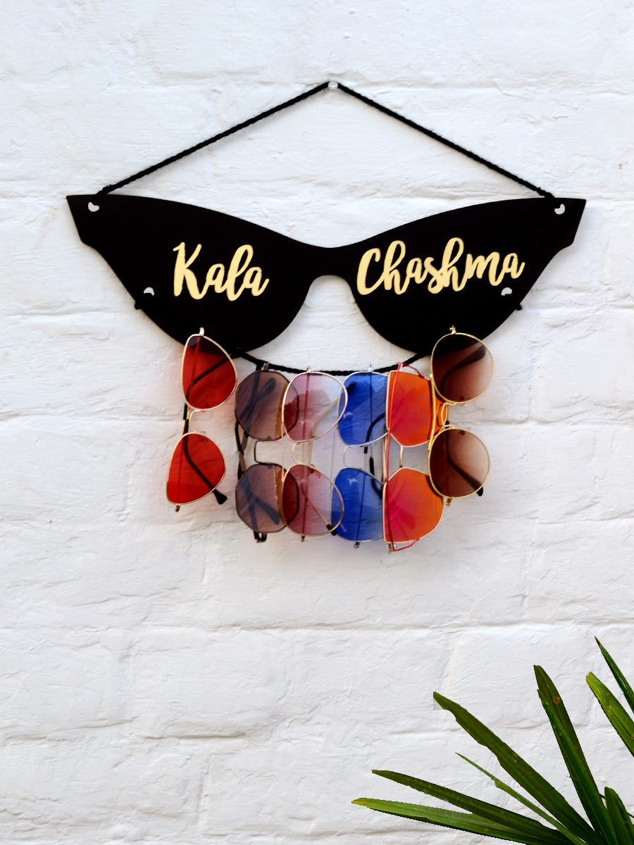 Kala Chashma Sunglasses Holder, a unique handcrafted sunglass holder from our wide range of quirky, bohemian home decor products like key holders, sunglass holders and more.