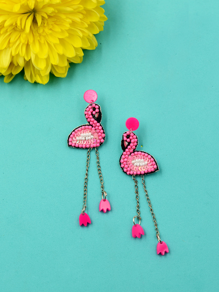 Flamingo Bead Earrings